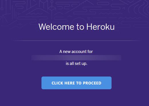 Herokuアカウント作成方法